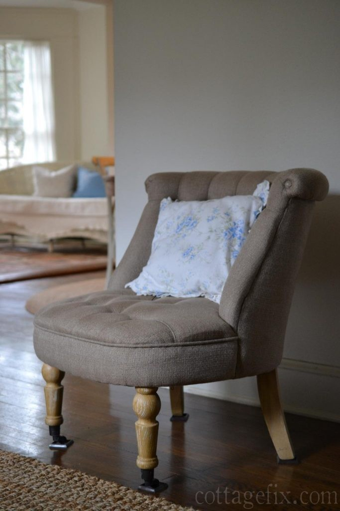 Cottage Fix blog - blue and white floral pillow
