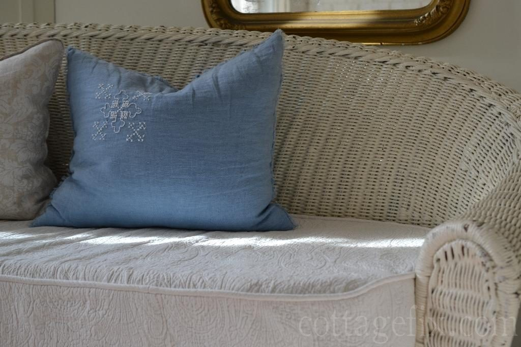 Cottage Fix blog - blue RA pillow