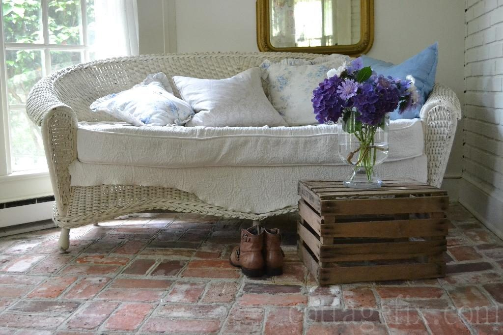 Cottage Fix blog - settee and garden blooms