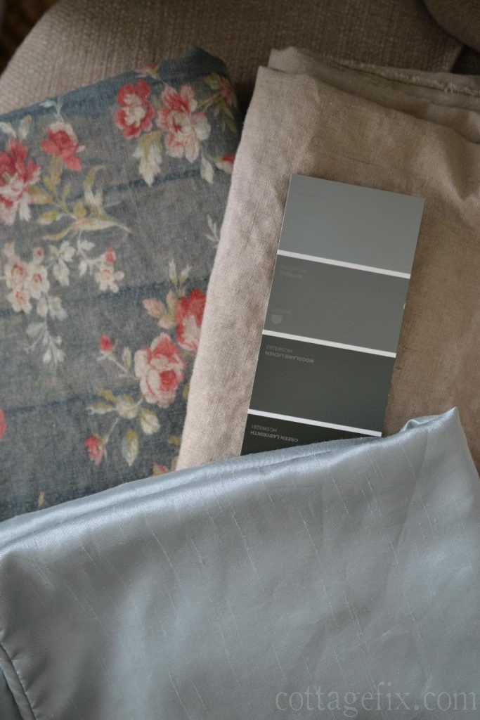 Cottage Fix blog - prairie rose, linen, and silvery blue