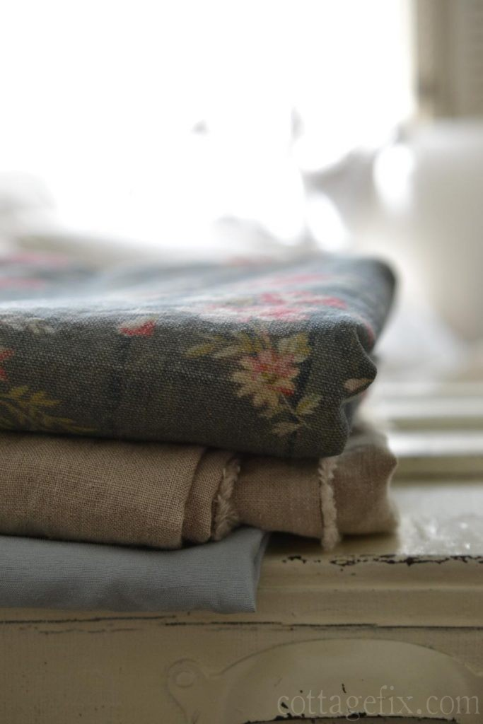 Cottage Fix rose - prairie rose, linen, and silvery blur for pillows