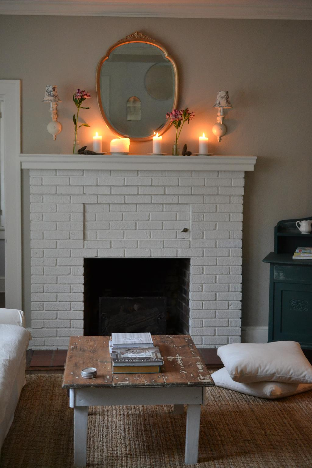 Cottage Fix blog - autumn decorating on our mantel