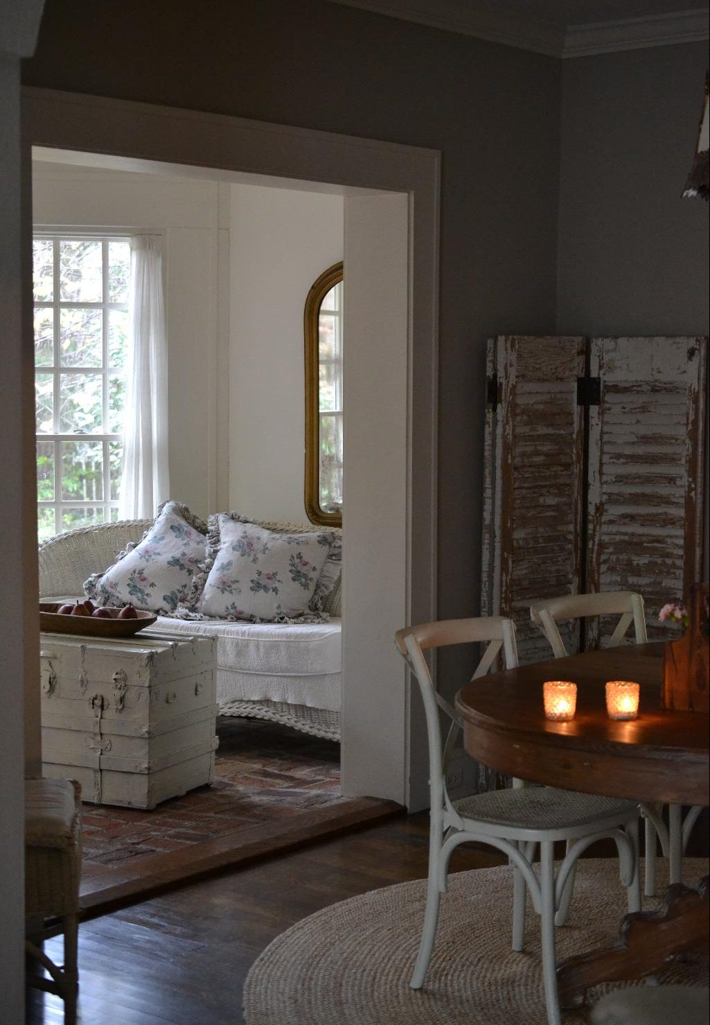 Cottage Fix blog - autumn decorating in our dining room and sun porch