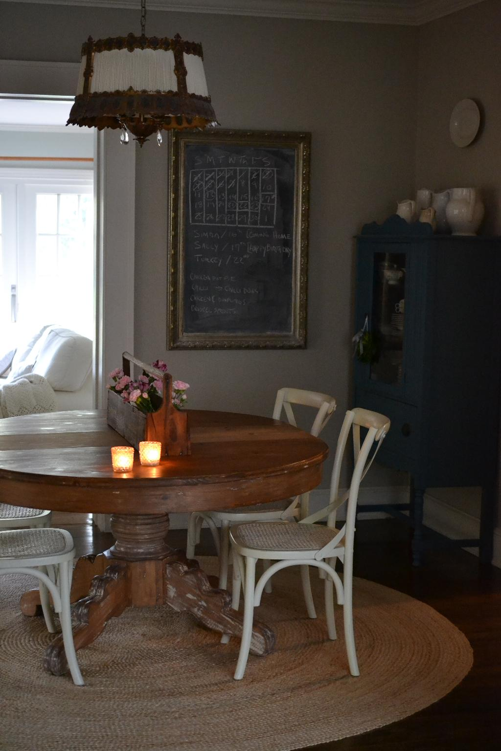 Cottage Fix blog - autumn decorating in our dining room