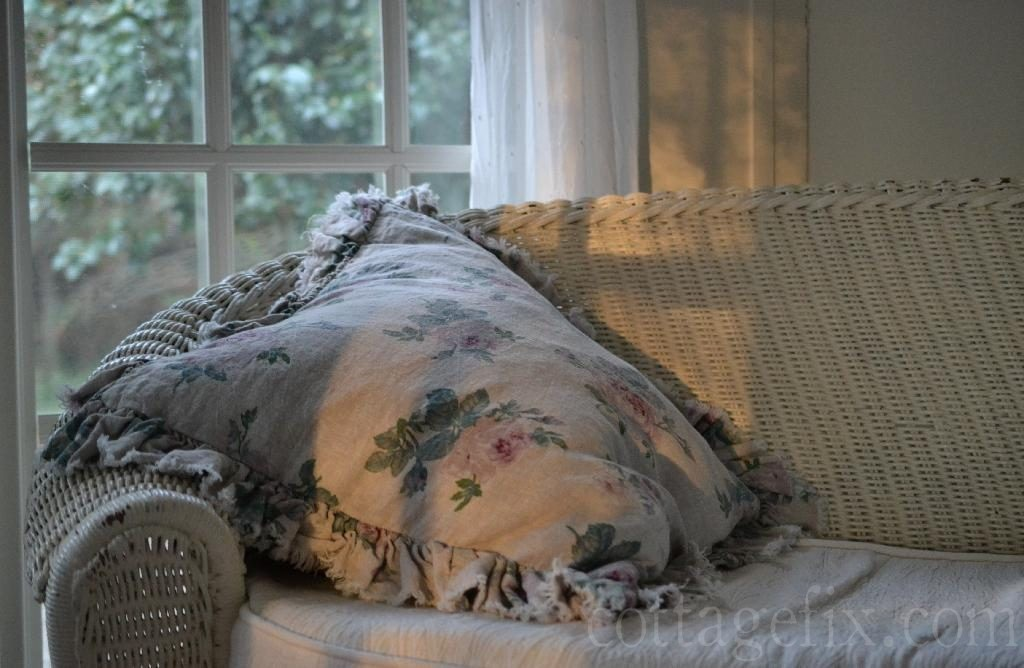 Cottage Fix blog - shabby chic pillow