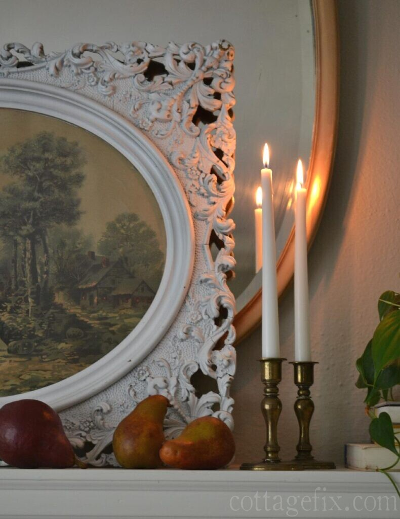 Cottage Fix blog - pears and candlelight